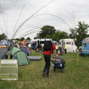 Glastonbury Festival Campsite gateway